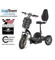 Triciclo eléctrico con silla comodo y seguro. NEGRO
