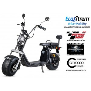 Moto eléctrica matriculable 1500W Maverick II Citycoco NEGRA